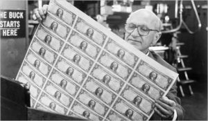 Milton Friedman with a lot of money